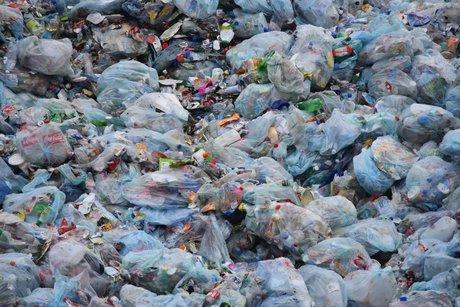déchets de plastique.