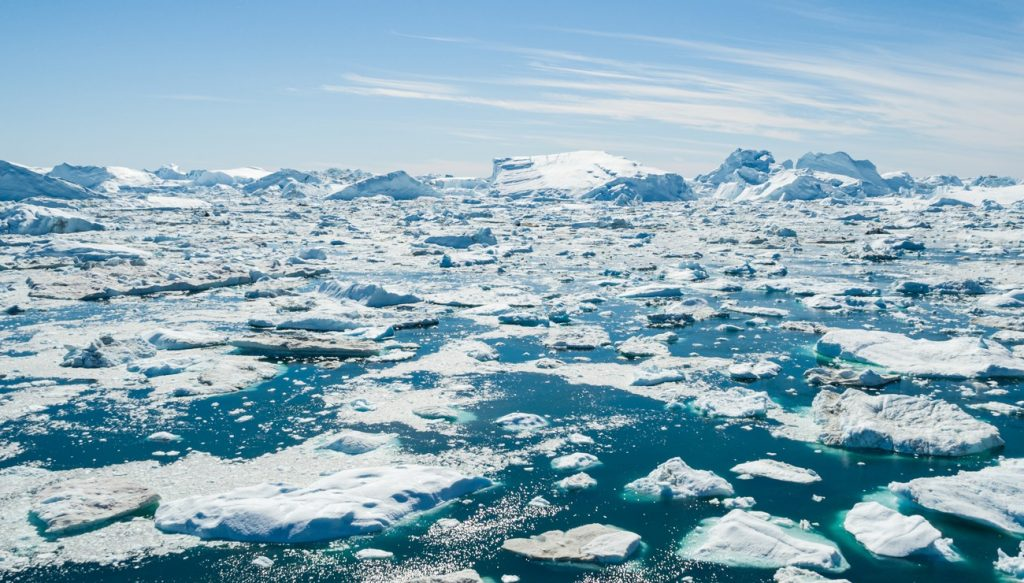 La fonte des glaciers.
